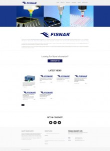 New Fisnar Website Mock Up