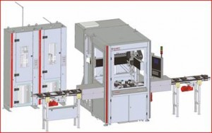 DC-CNC 800 with integrated conveyor