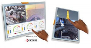 Kyocera TFT-LCDs with PCAP