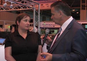 ■ Trevor Galbraith with Claire Saunders, Event Director, National Electronics Week.